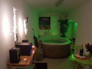 Bazén, vířivka a sauna  Penzion Jitřenka Šumava
